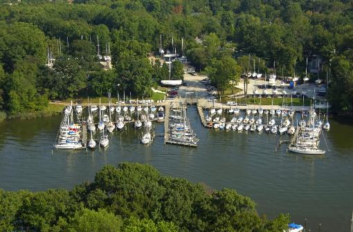 Whitehall Marina Annapolis MD Arial